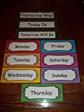 Days of the Week Preschool Learning Center Laminated Bulletin Board Accessory.