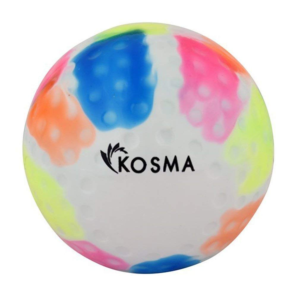 Kosma Dimple Multi couleur Balle de Hockey | Sports de plein air Balles Formation pratique en PVC Montstar