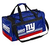 FOCO New York Giants Medium Striped Core Duffle Bag