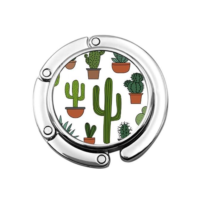 Cactus Green Plants Perchas de Belleza Monedero Colgadores de Mesa ...
