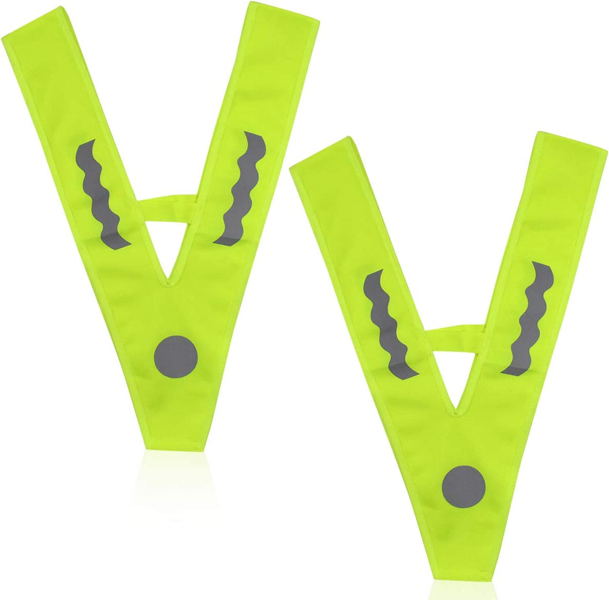 Chaleco de Seguridad para ni/ños Netspower Chaleco de Seguridad Chalecos Reflectantes 2 Piezas de Collar con se/ñal en Forma de V Collar de Seguridad Chaleco Antideslizante Collar Reflectante
