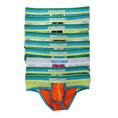 SiikWorld Men's Low Rise Cotton Brief Underwear Pack of 9 US