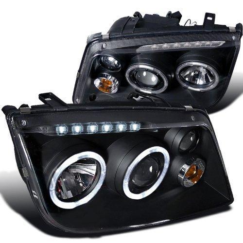 Spec-D Tuning LHP-JET99JM-RS Volkswagen Jetta Led Black Projector Head Lights W/Fog ()