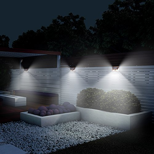 LITOM Solar Lights Outdoor, Wireless 24 LED Motion Sensor Solar Lights with Wide Lighting Area, IP65 Waterproof Security Lights for Porch, Deck, Backyard, Front Door, Garage (4 Pack) by Litom (Image #2)