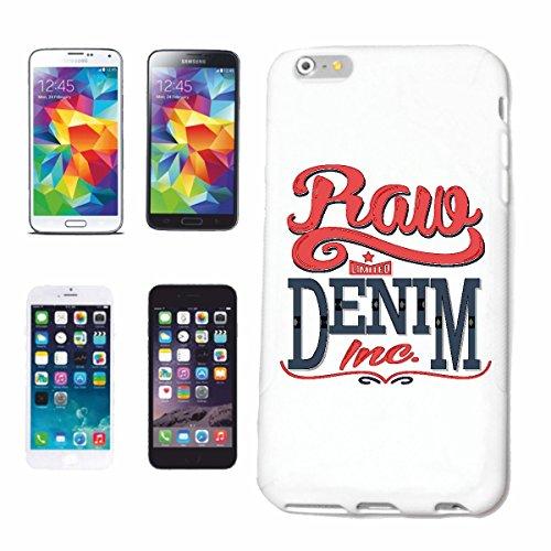 """cas de téléphone iPhone 6+ Plus """"RAVE DENIM MOTORCYCLE CLUB CYCLISTE ROCKER HARLEY Motorradfahrer CUSTOMBIKE MC"""" Hard Case Cover Téléphone Covers Smart Cover pour Apple iPhone en blanc"""