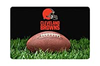 NFL Cleveland Browns Classic Football Pet Bowl Large Mat, One Size, Brown