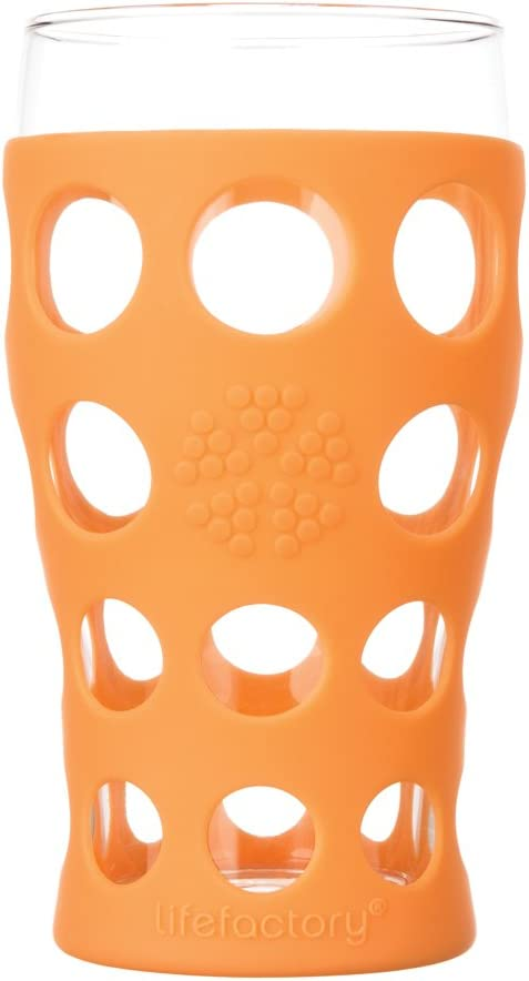 Lifefactory 20oz Beverage Glasses SET OF 2 by Lifefactory, color = Orange