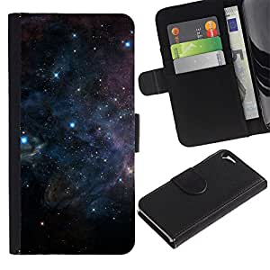 For Apple iPhone 5 / iPhone 5S,S-type® Universe Cosmos Dark Space Stars Hope - Dibujo PU billetera de cuero Funda Case Caso de la piel de la bolsa protectora