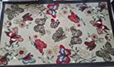 The Pecan Man BUTTERFLIES LONG TEXTILE KITCHEN RUG (non skid back) ,1Pcs 24'' x 39''