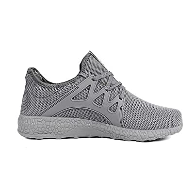 Feetmat Womens Sneakers Ultra Lightweight Breathable Mesh Athletic Running Shoes 12 Grey