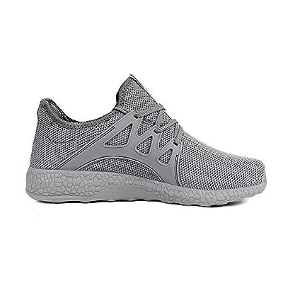 Feetmat WomensSneakersUltraLightweightBreathableMeshAthleticRunningShoes12 Grey