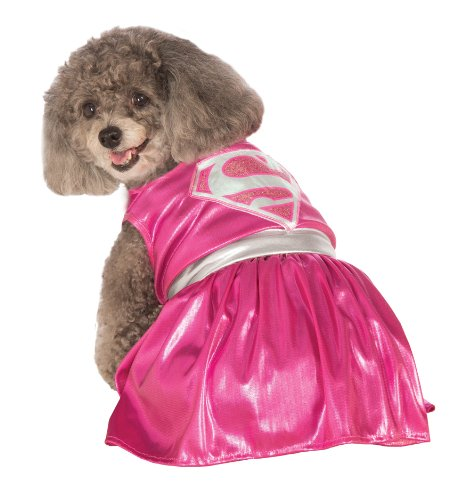 Russell Girl Costume (DC Comics Pet Costume, Medium, Pink Supergirl)