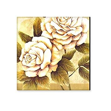 rose flowers realism oil schools of impression painting ceramic