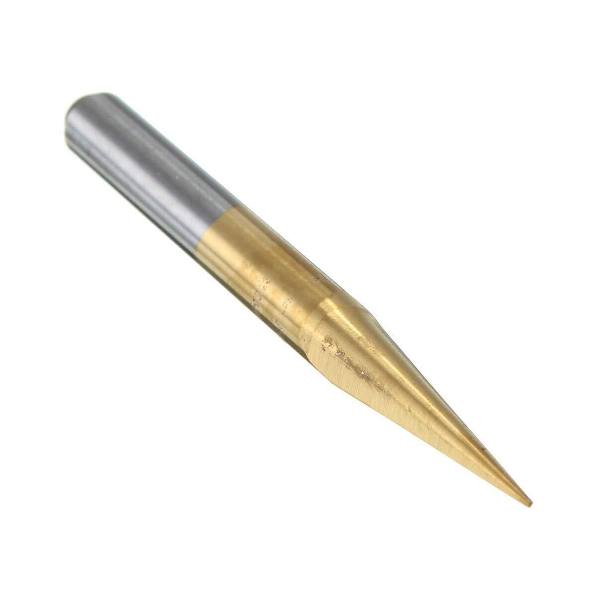 GENERICS LSB-Werkzeuge Gr/ö/ße : 1Pc 10 Degree 0.1mm 1Pc 10 Grad 0.1mm titannitriert Carbide PCB Acryl ABS Kupferstich CNC-Bits Router-Werkzeug for Pr/äzisionsteile aus Metall