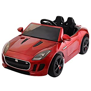 costzon jaguar f type 12v battery power kids ride on car licensed mp3 rc remote control