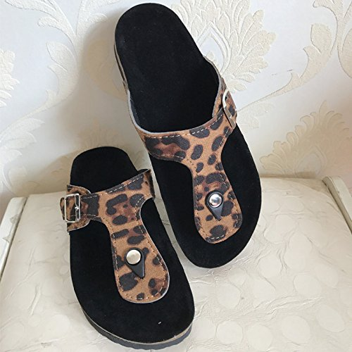 And HONG Mujer Antideslizantes JIA Style Chancletas Slippers Slippers Sequins Boken Clips Para Purple Sandals Summer Beach Cork New gXwwUq