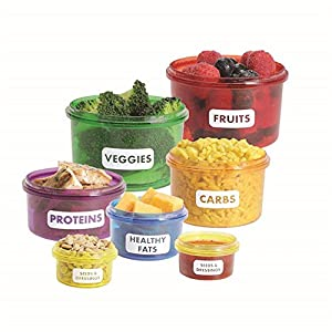 New 7Pcs/set Creative Perfect Portions Food Storage Containers Way box
