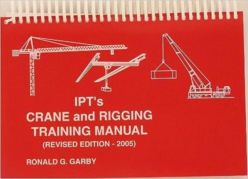 Ipt S Crane And Rigging Training Manual 2005 Edition Ronald
