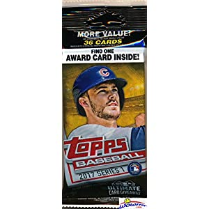 2017 Topps Series 1 MLB Baseball EXCLUSIVE Factory Sealed JUMBO FAT Pack with 36 Cards including MLB Awards SILVER PARALLEL! Loaded with Cool Inserts & Rookies! Look for Autographs & Relics! Wowzzer!