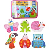 Zocita Kids Early Education Animal Jigsaw Puzzle Iron Box, 6-Pack in One, 6.7x4.7in (Insect)