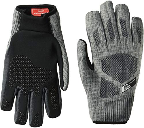 Gordini Men's Men's Ergoknit Gore Windstopper Stretch Fleece Palm Gloves, Charcoal, -