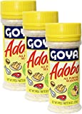 Goya Adobo Seasoning with Lemon and Pepper 8 oz Pack of 3
