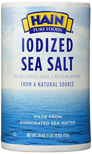 Hain Pure Foods Sea Salt Iodized -- 26 oz