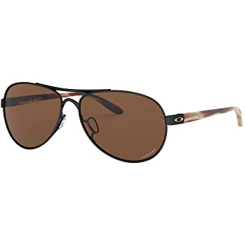Amazon.com: Oakley Womens OO4108 Tie Breaker Aviator Metal ...