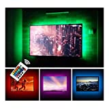 USB TV Backlight LED Bias Lighting Kit For 24' to 60 Inch Smart TV Monitor HDTV Wall Mount Stand Work Space - TV Background Ambient Mood Lighting Decor