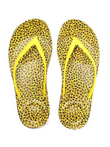 Fitflop Femme iQUSHION Ergonomique Flip Flops - Bubbles Jaunes