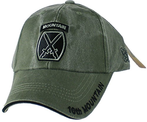 10th Mountain Division Tonal Color Insignia Adult Cap [Adjustable - Olive Drab Green]