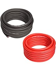 TOPSTRONGGEAR 4 Gauge 25ft Black and 25ft Red Power/Ground Wire True 4 AWG Power Wire-True Spec and Soft Touch Cable (Black&Red)