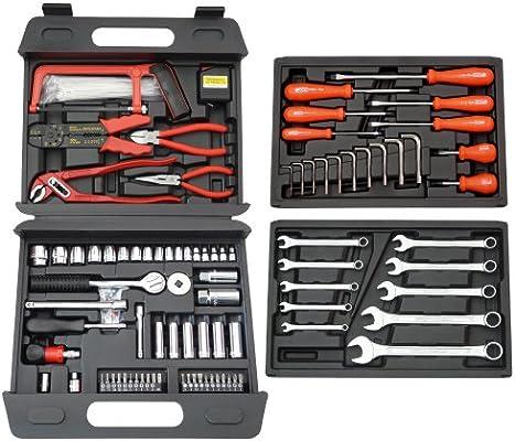 Famex - Maletín de herramientas universal (156 piezas): Amazon.es: Bricolaje y herramientas