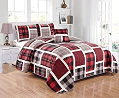 Linen Plus Twin Size 3pc Quilted Bedspre...