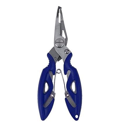 Tijera Alicate De Pesca De Línea De Anillo Dividido Gancho Cortador Removedor Herramienta Azul Tackle