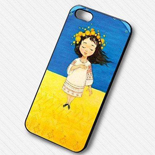 Girl Ukraine Symbol pour Coque Iphone 6 et Coque Iphone 6s Case F8U3SI
