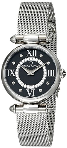 Claude Bernard Women's 20500 3 NPN1 Dress Code Analog Display Swiss Quartz Silver Watch