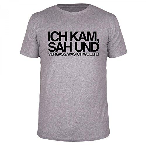 FABTEE - Ich kam sah und vergass was ich wollte - Herren T-Shirt - verschiedene Farben - Größen S-4XL, Größe:S;Farbe:Schwarz