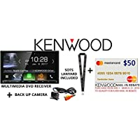 Kenwood DDX9904S In Dash DVD CD 6.95 Touchscreen Display, Built in Bluetooth, HD Radio with Universal Backup Camera and a FREE SOTS Lanyard