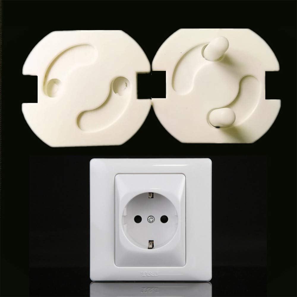 Cyleibe Baby Proofing Plug Covers Tapas de enchufe de seguridad para ni/ños cubierta de salida para ronda de 2 pines europeos 10 paquetes
