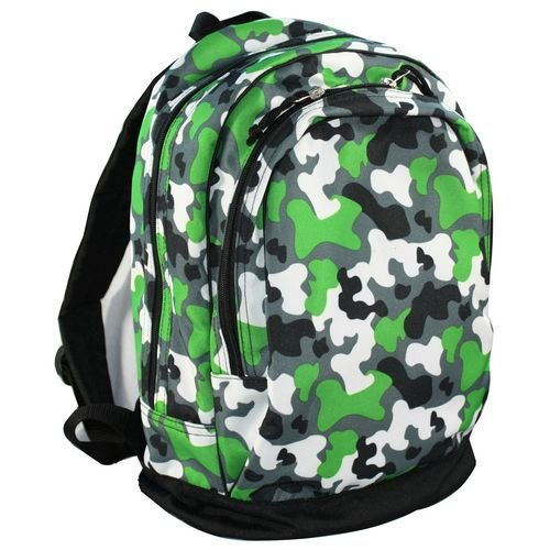 Wildkin 15 Inch Backpack, Extra Durable Backpack with Padded Straps and Interior Moisture-Resistant Lining, Perfect for School or Travel – Green Camo