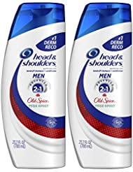 Head and Shoulders Shampoo and Conditioner 2 in 1 Anti Dandruff for Men, Old Spice Pure Sport, 23.7 Fl Oz (Pack of 2)