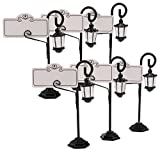 Table Name holders,Dedoot European Style Creative Street Lamp Place Card Holders Table Number Holder for Business,Weddings, Parties, Table Numbers, Food Signs and Special Event Decoration,Pack of 6
