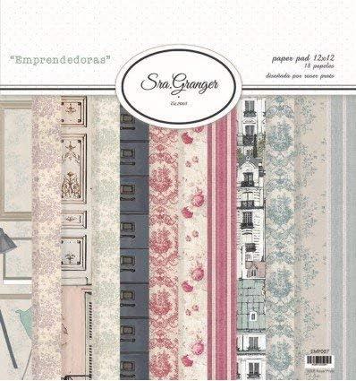 Pack 18 papeles de Scrapbooking de la colección Emprendedoras diseñada por Roser Prats.: Amazon.es: Oficina y papelería