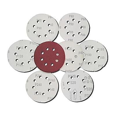 Astron Top 5-Inch Sanding Disc, 40-Pack, 8-Hole, Hook & Loop, for Random Orbital Sander