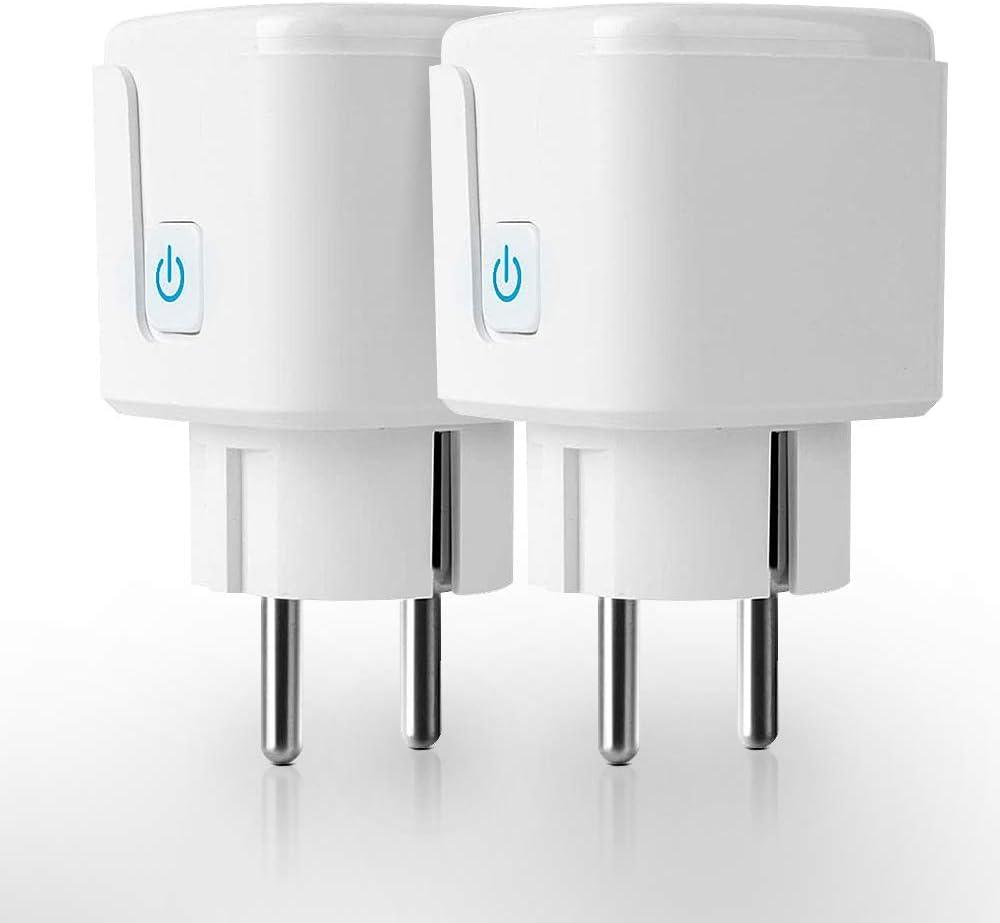 EZGETOP Smart Plug Mini WiFi Smart Steckdose WLAN Steckdose Intelligente Steckdose 16A/3650W, Funktioniert mit Android und iOS Siri