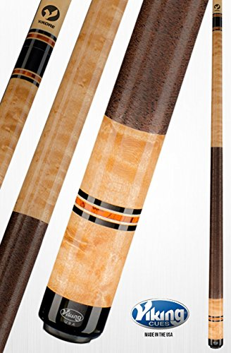 - Viking A326 Pool Cue Stick Khaki Premium Birdseye Maple Central American Cocobolo Black (IMA), Maple Premium Pearl Rings Quick Release Joint ViKORE Shaft 18, 18.5, 19, 19.5, 20, 20.5, 21 oz. (19.5)