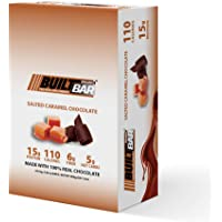 Built Bar 18 Pack Energy and Protein Bars - 100% Real Chocolate - High in Whey Protein and Fiber - Gluten Free, Natural Flavoring, No Preservatives (Salted Caramel)