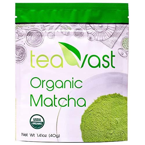 Matcha Green Tea Powder Organic, Vegan, Iced Latte, Smoothie, Iced Tea, Ice Cream, Baking, Cold Brew and Dessert, Sugar Free, Recipes 40g/1.41oz (Best Green Tea Ice Cream)