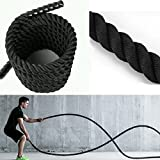 ExerciseTraining Ropes for Arm Exercise - Namee Gym Fitness Training Battle Rope Undulation Rope Battling Power Rope for Body Weight Strength Training Systems
